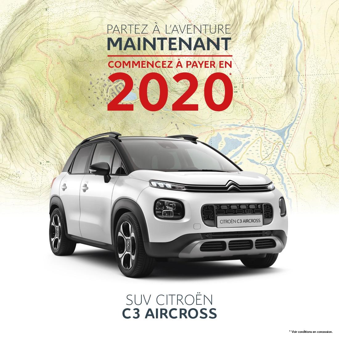 C3 AIRCROSS - achetez maintenant, commencez à payer en 2020 - Citroen Réunion